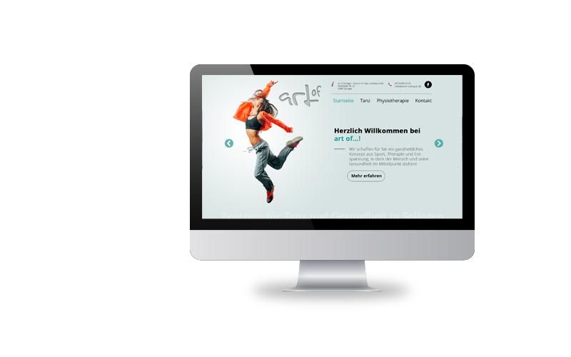 Responsive Webdesign, Konzeption, RealisierungZentrum für Tanz & Gesundheit