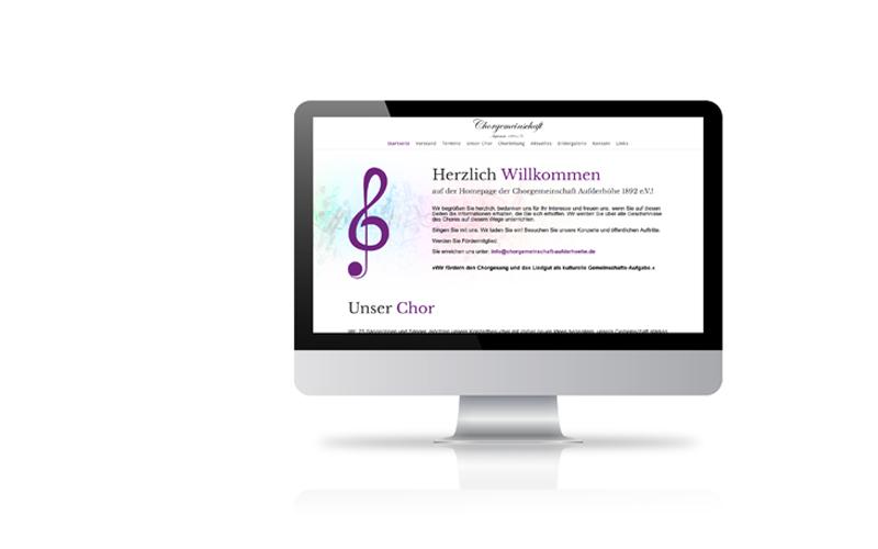 Responsive Webdesign, Konzeption, RealisierungChorgemeinschaft Aufderhöhe 1892 e.V.