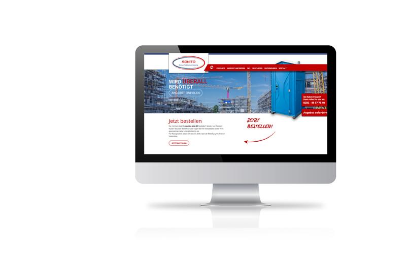 Responsive Webdesign, Konzeption, RealisierungSONITO - Sonius Toilettenvermietung